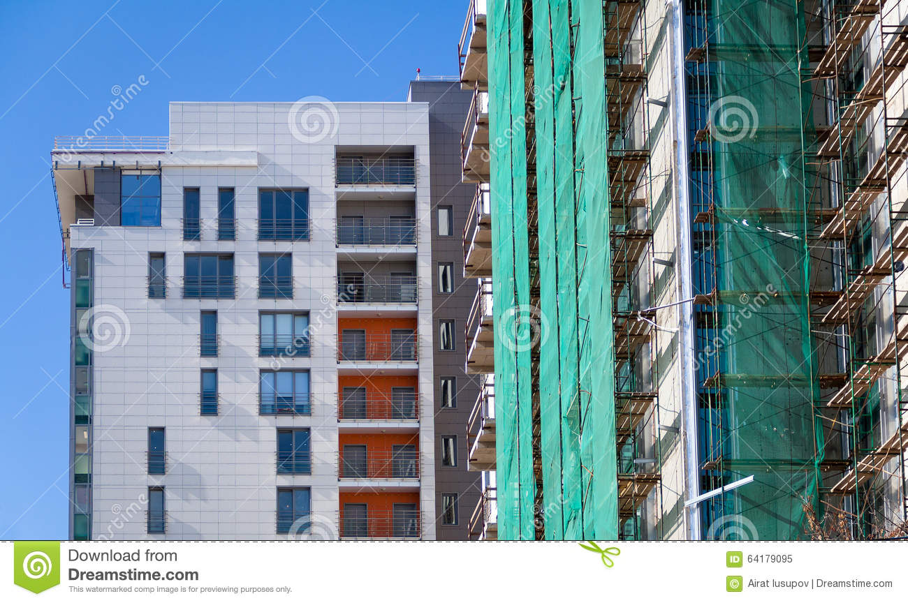 Modern housing stock photo image 64179095 for Multi storey apartment modern design