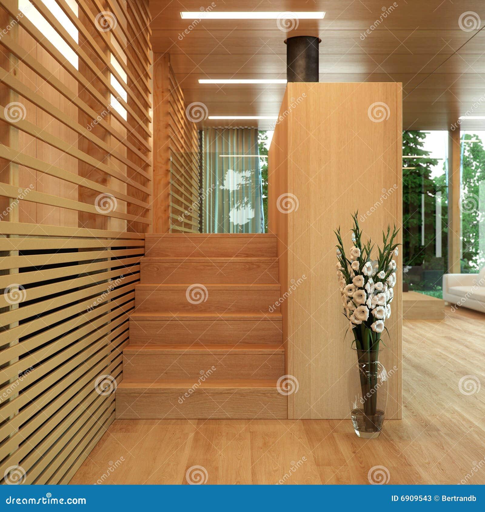 Modern Hout Met Panelen Bekleed Huis Stock Foto u0026#39;s   Afbeelding  6909543
