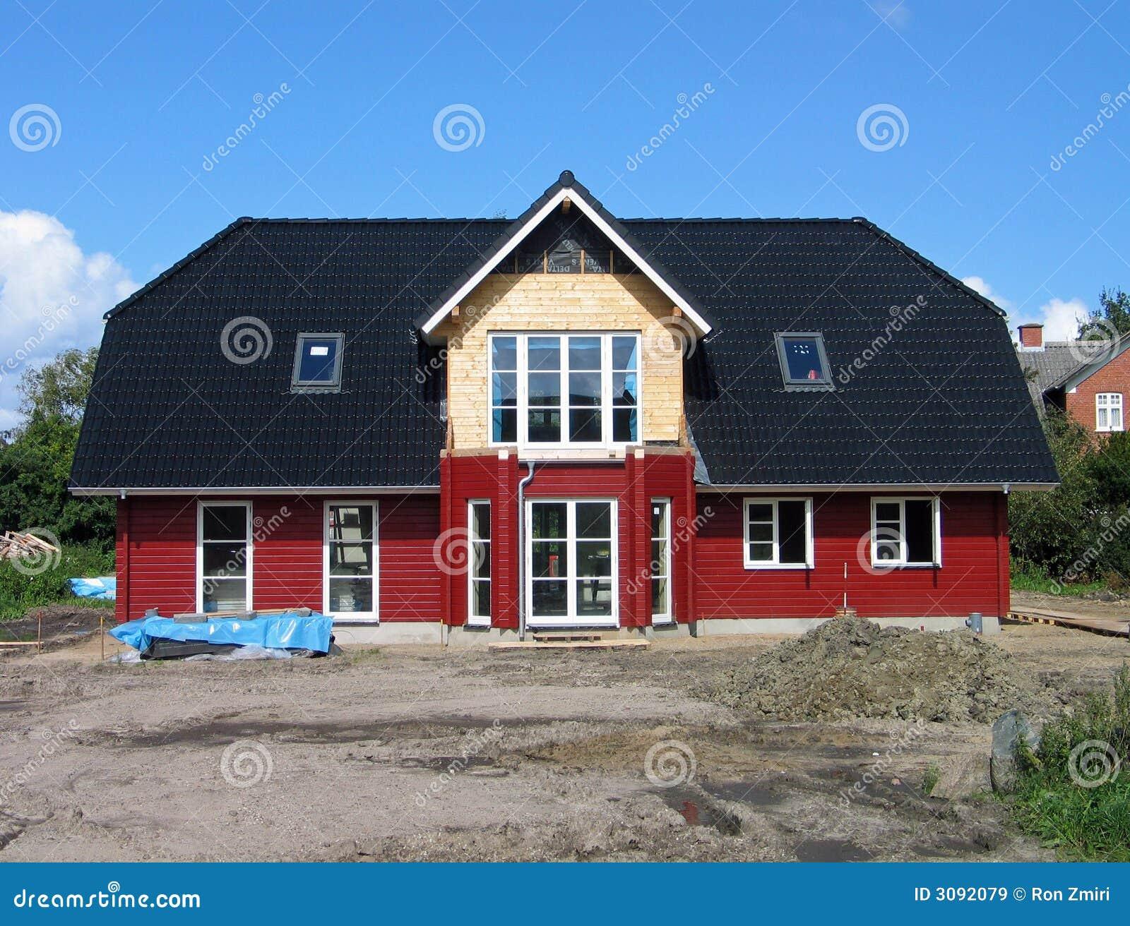 Modern houten huis stock afbeelding afbeelding bestaande uit hout 3092079 for Hout huis