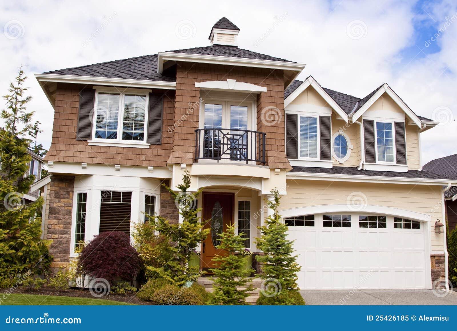 Modern Huis Stock Afbeelding Afbeelding Bestaande Uit Merk 25426185
