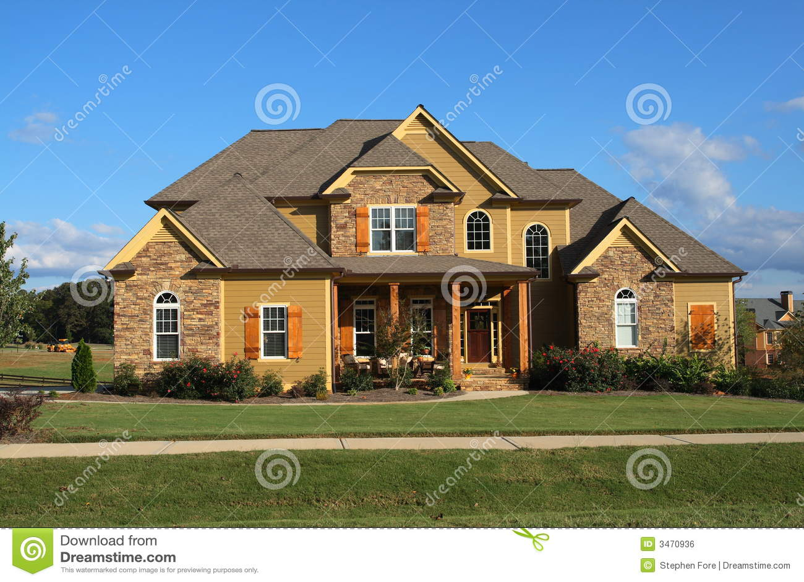 Modern huis stock foto afbeelding bestaande uit werf 3470936 for Moderne huis foto