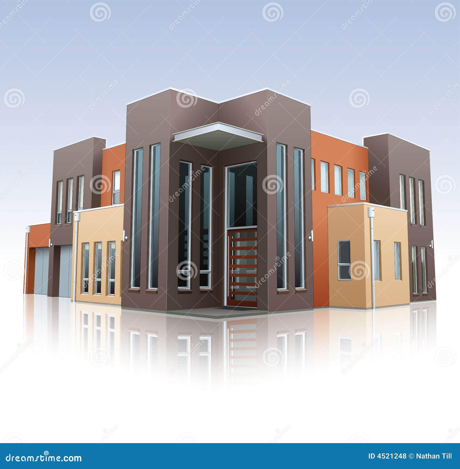 Modern huis stock illustratie afbeelding bestaande uit buurt 4521248 for Moderne huis foto