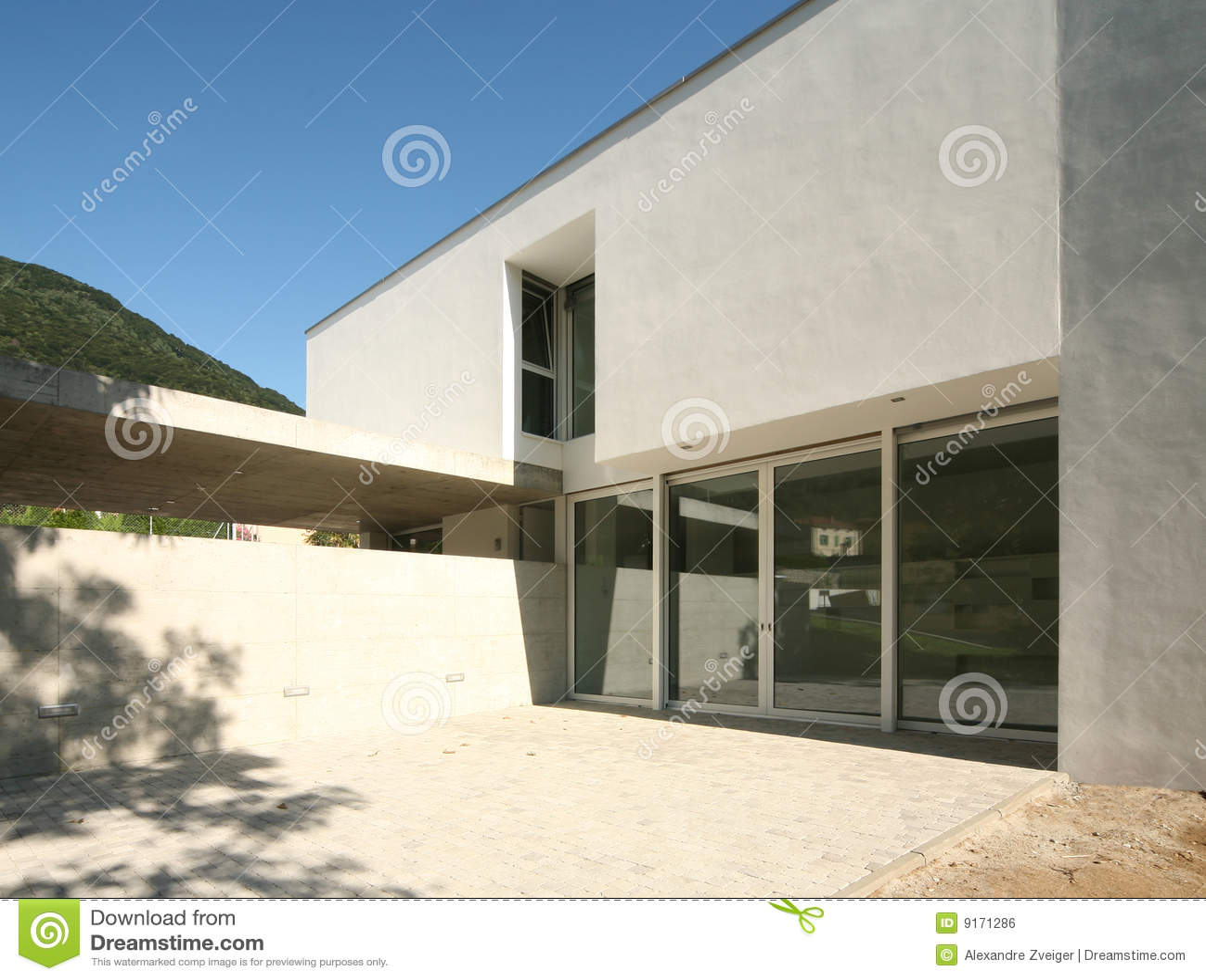 Modern huis royalty vrije stock afbeelding afbeelding 9171286 - Huis modern kubus ...