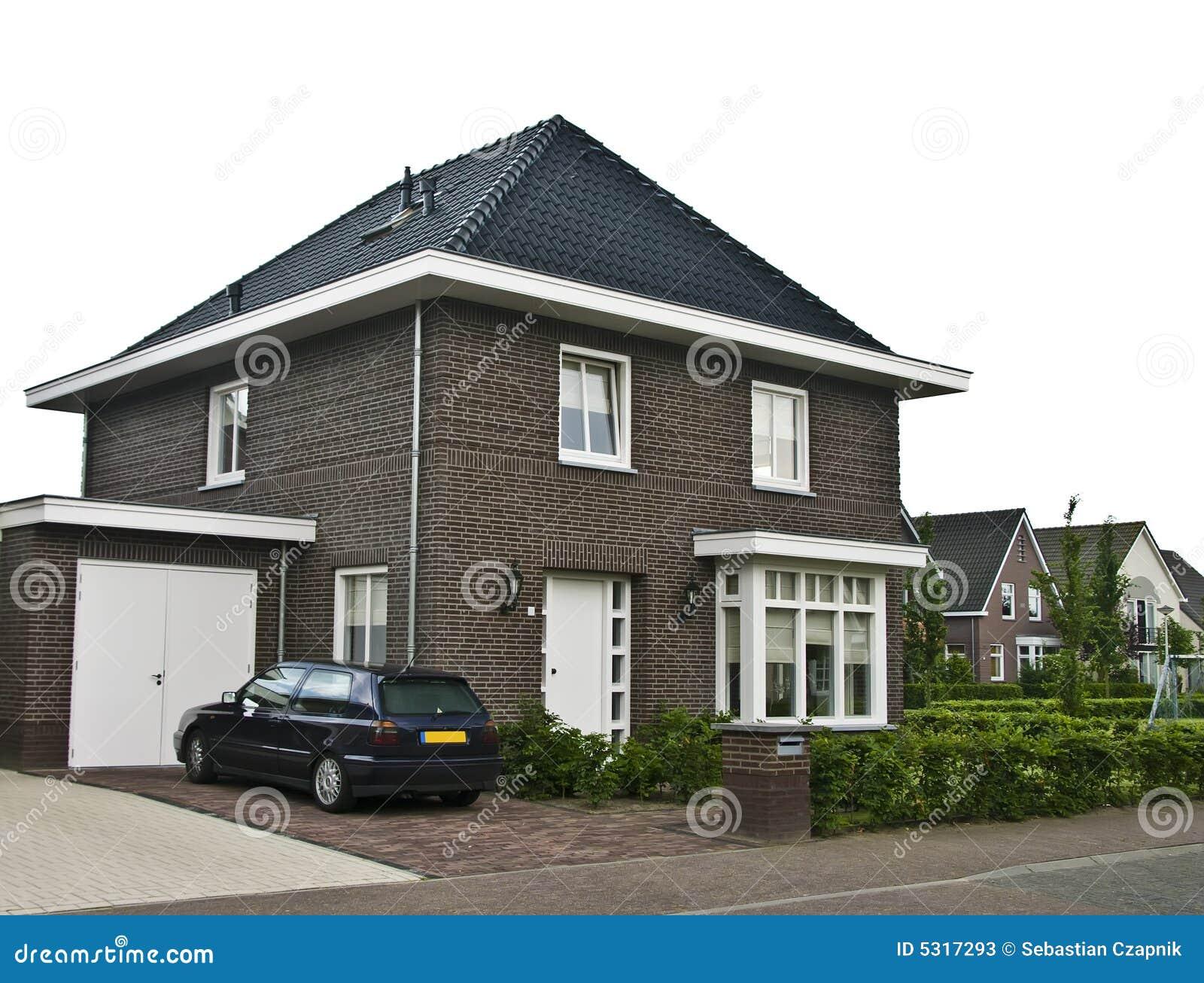Modern huis in de voorsteden stock foto 39 s beeld 5317293 - Huis in de moderne ...