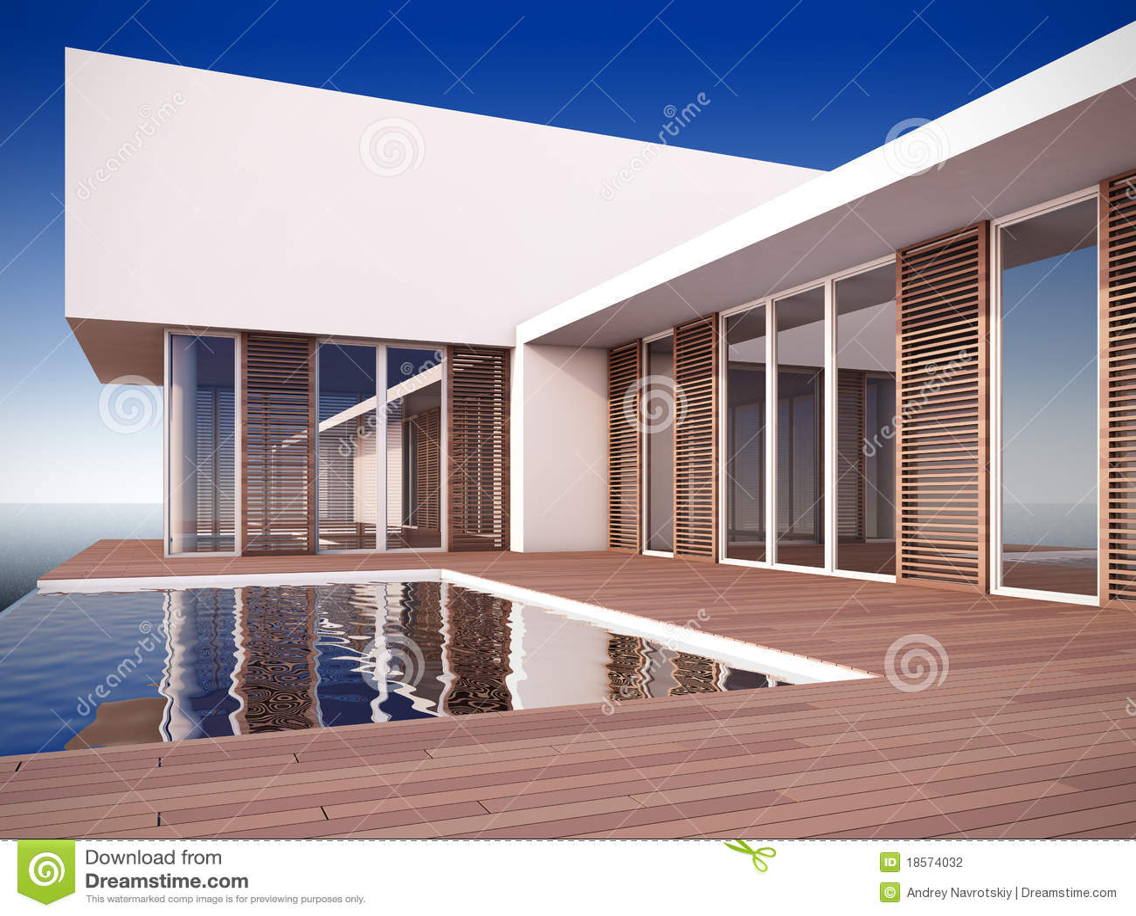 Modern huis in minimalistische stijl. stock illustratie