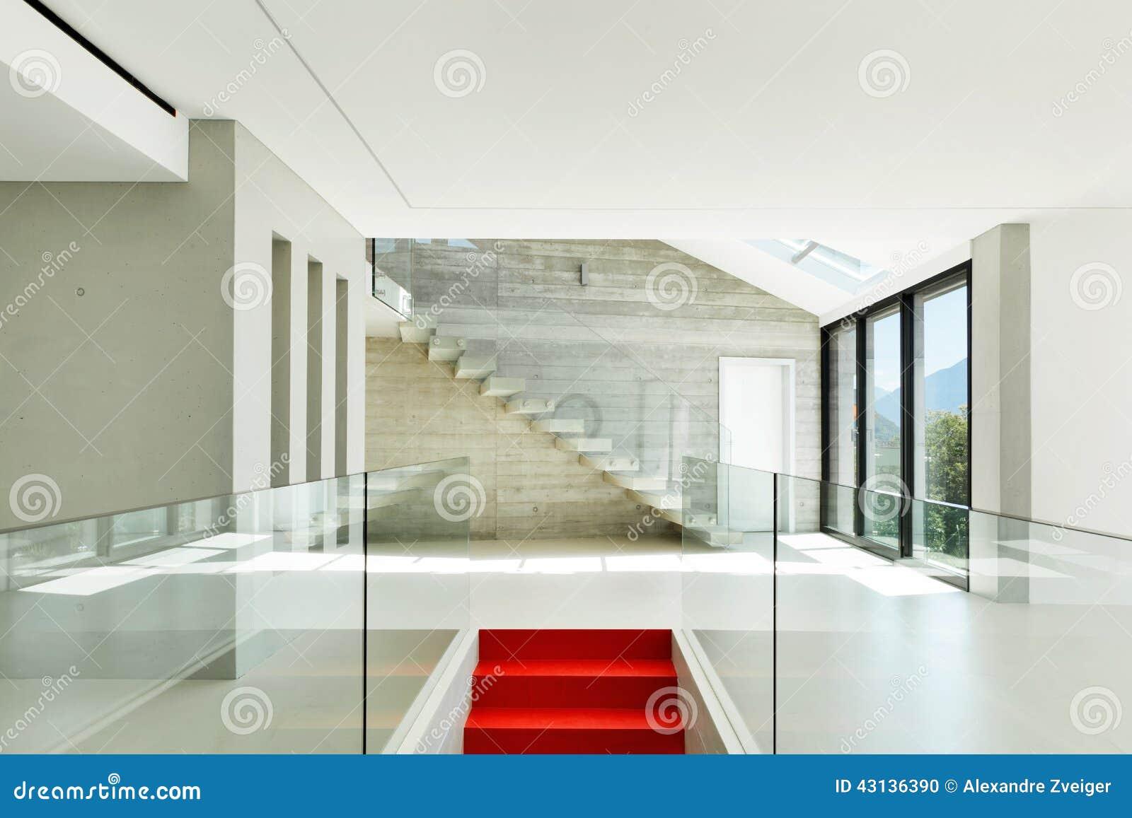 Modern huis trap stock foto afbeelding bestaande uit
