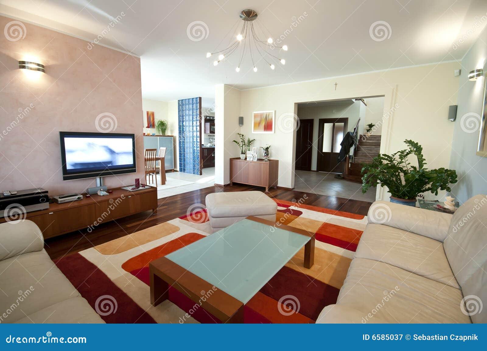 Modern huisbinnenland stock afbeelding afbeelding bestaande uit