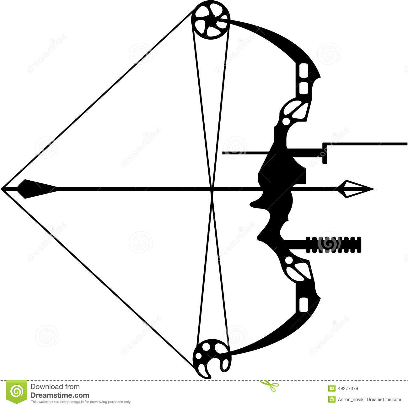 Modern Hunting Bow And Arrow Stock Vector - Image: 49277379