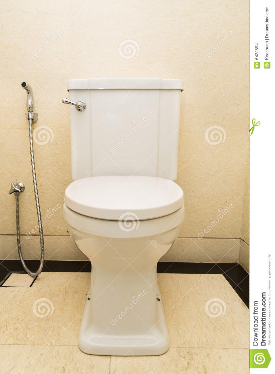Toilet And Bidet In A Modern Bathroom Stock Photography