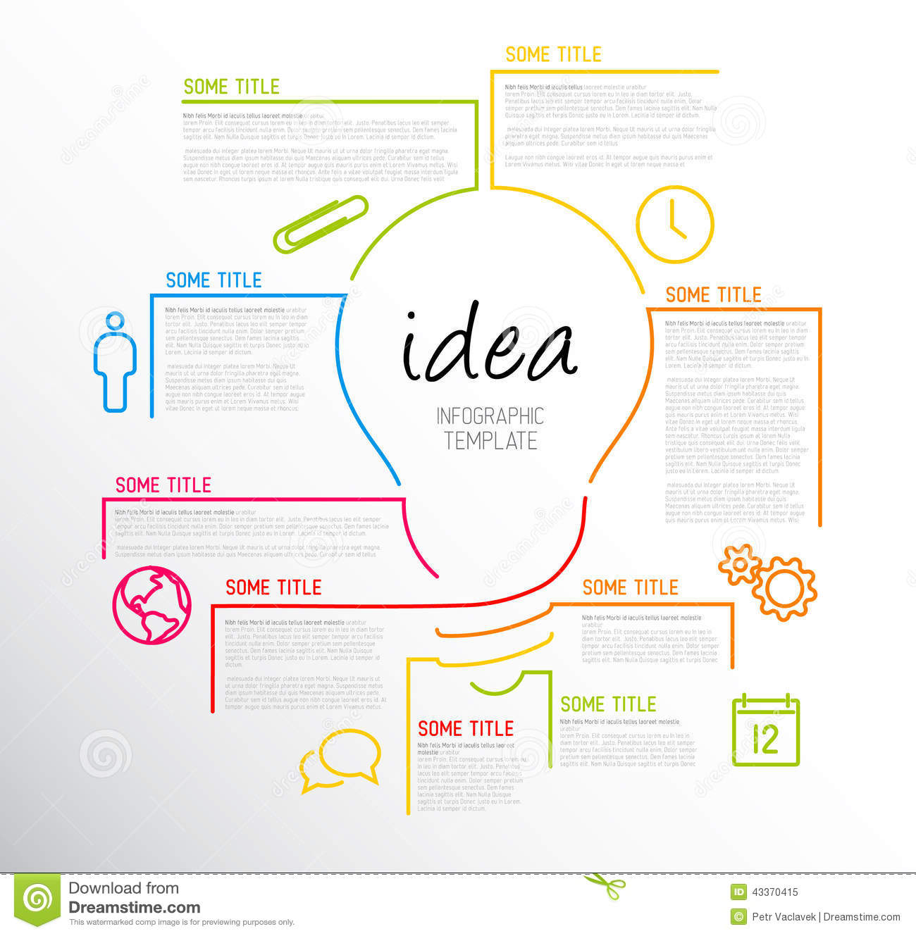 Modern Idea Infographic Template Made From Lines