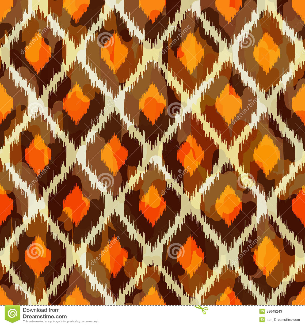 Modern Ikat Tribal Seamless Pattern For Web Or Hom Stock