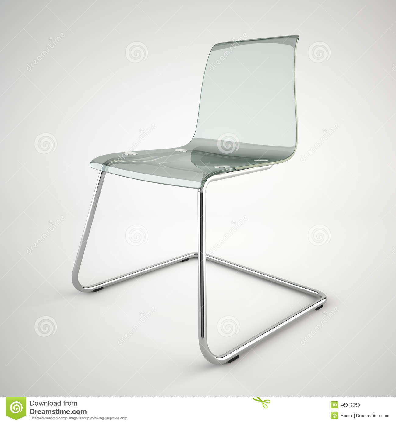 modern ikea glass chair isolated on white background stock image image of simple white 46017953. Black Bedroom Furniture Sets. Home Design Ideas