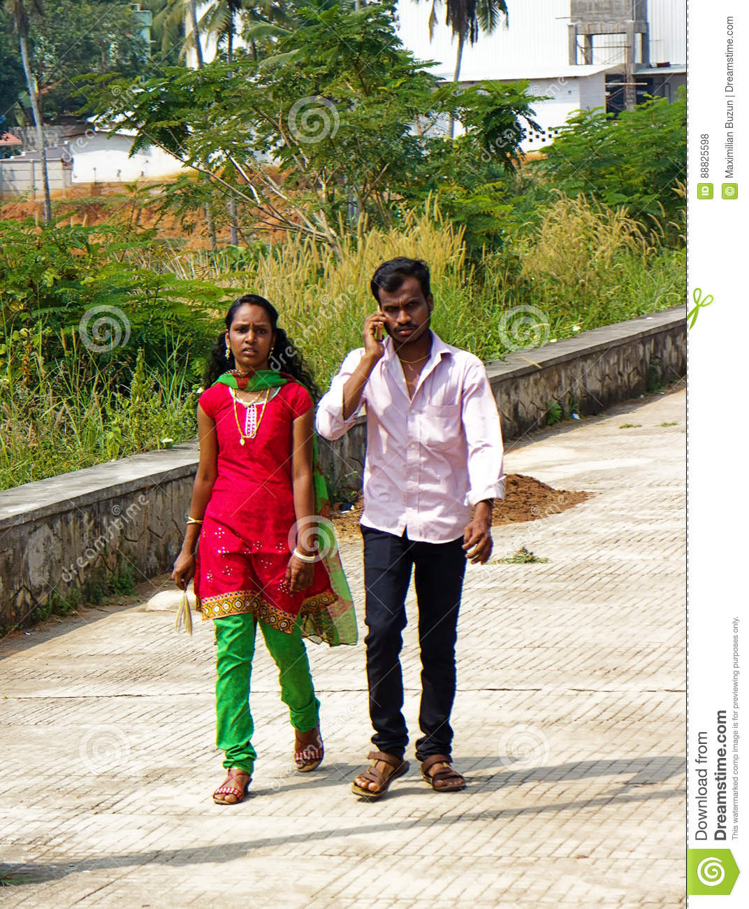 Modern Indian Boy And Girl. Editorial Stock Photo - Image ...