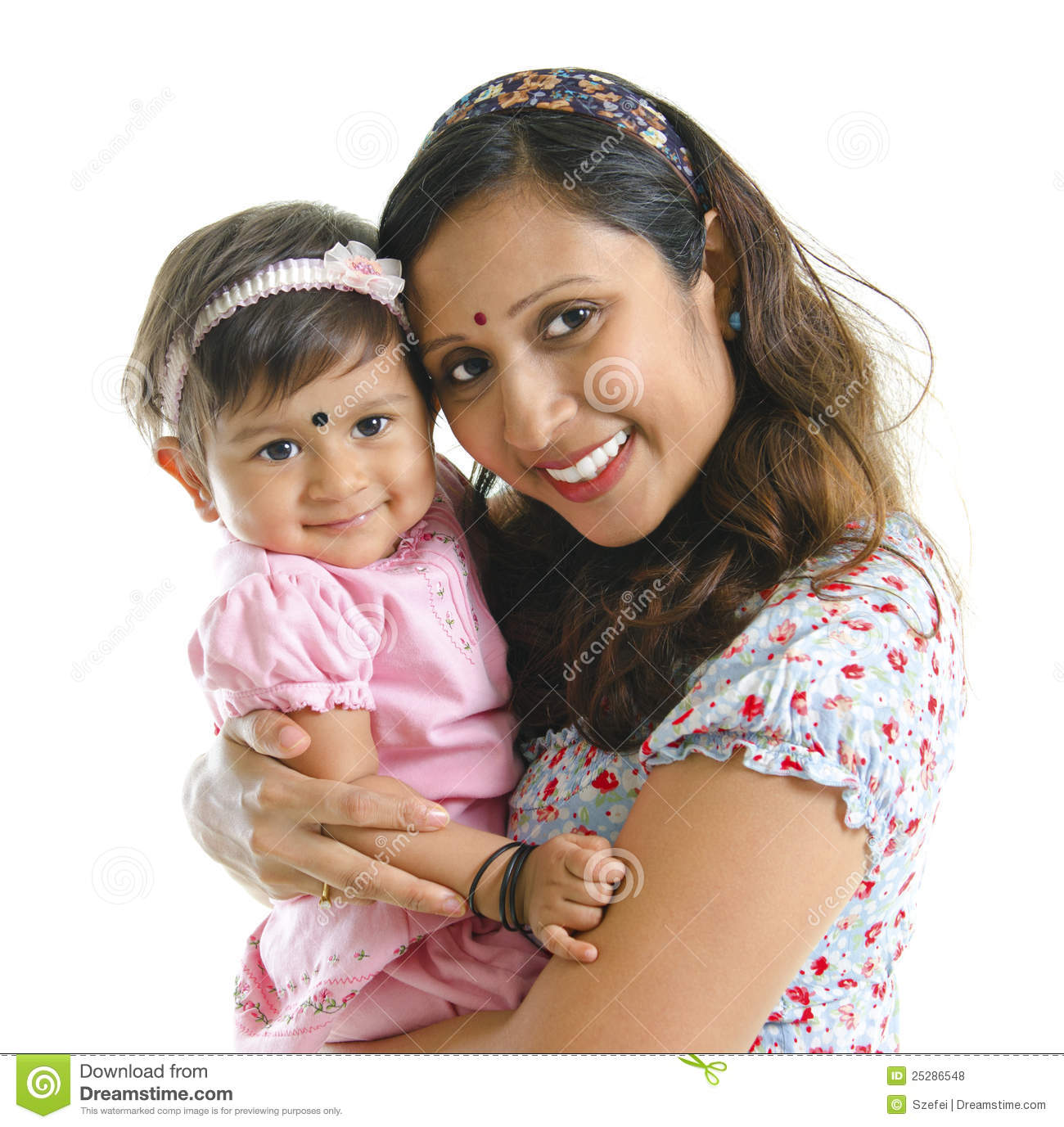 Modern Indian Mother And Daughter Royalty Free Stock ...