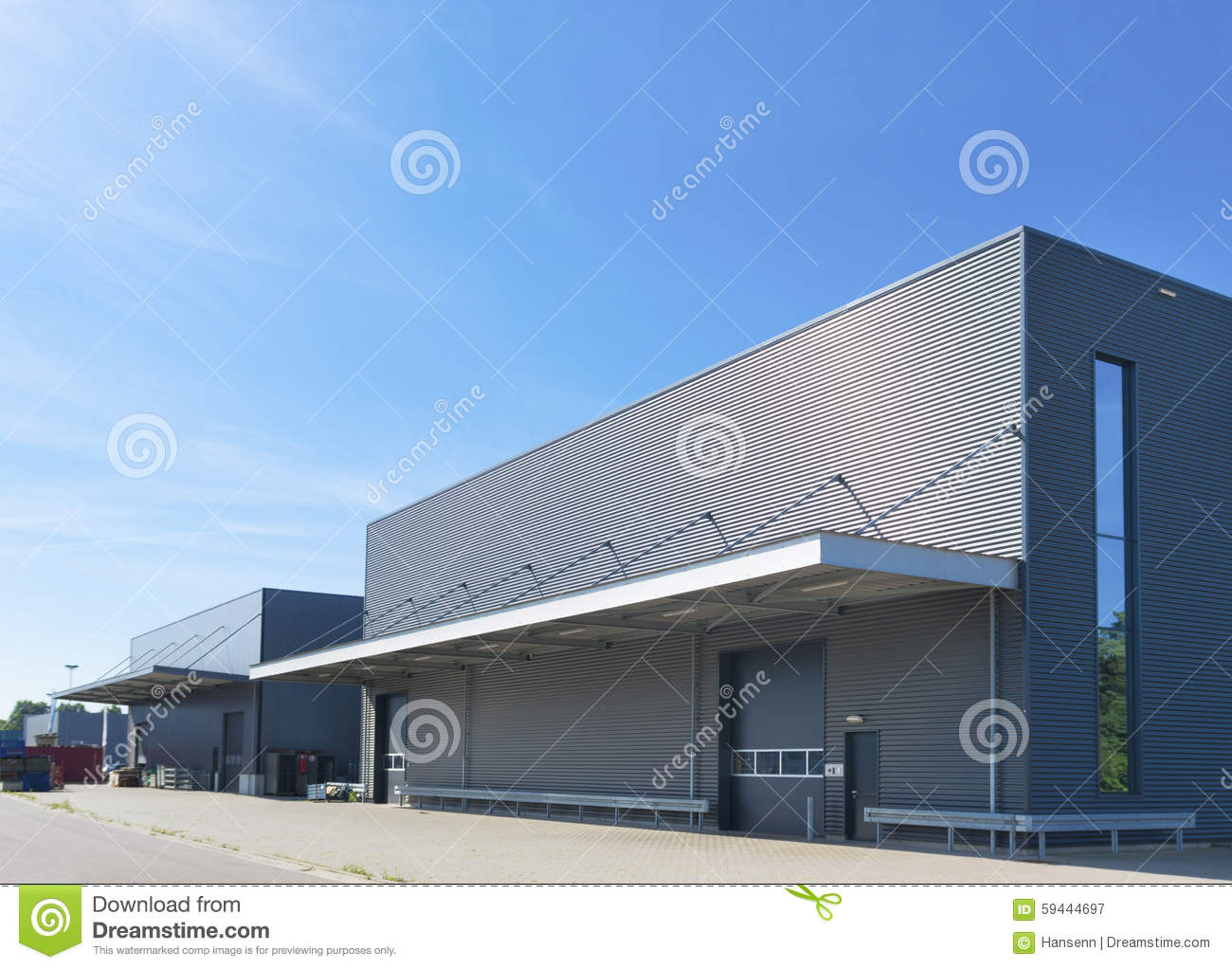 Modern Industrial Building Stock Photo Image 59444697