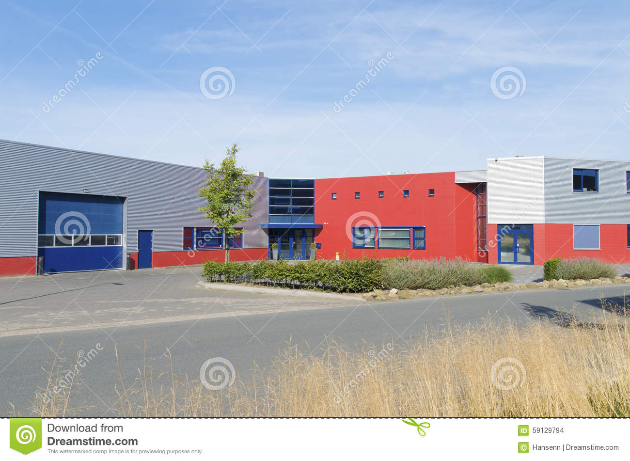 Modern Industrial Building Stock Photo Image Of Building 59129794
