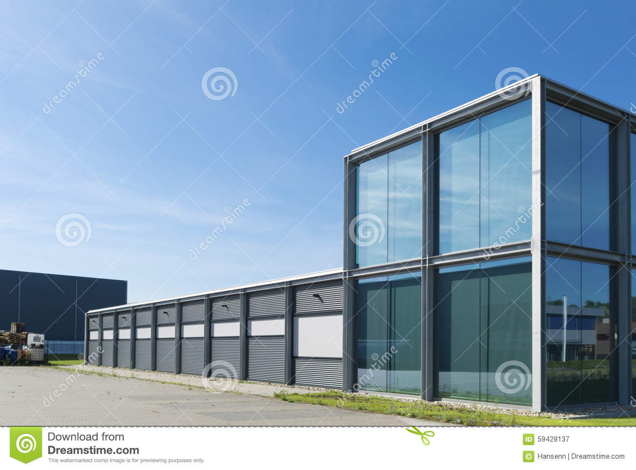 Modern industrial building stock image image of business for Modern office building exterior design