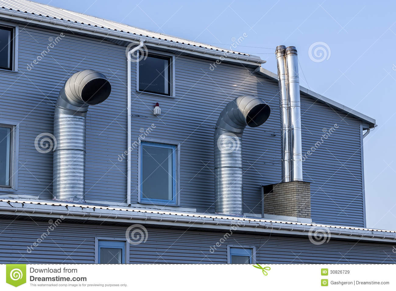 Industrial Building Ventiltors : Modern industrial building royalty free stock images