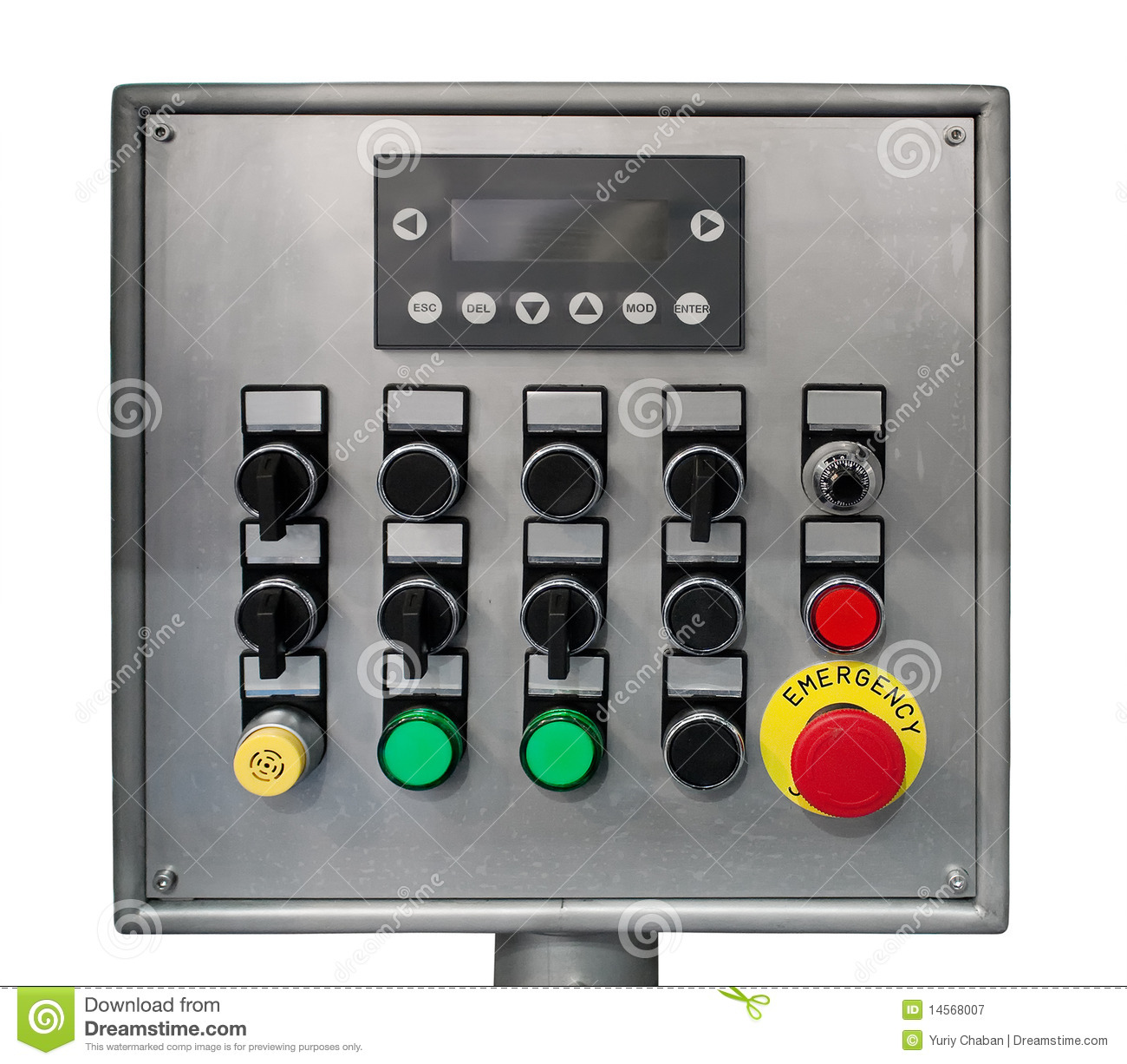 Time Control Panel : Modern industrial control panel stock image
