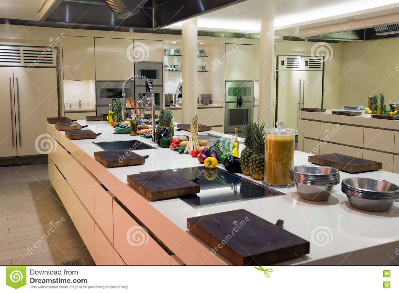 Modern Industrial Kitchen Stock Photo Image Of Counter