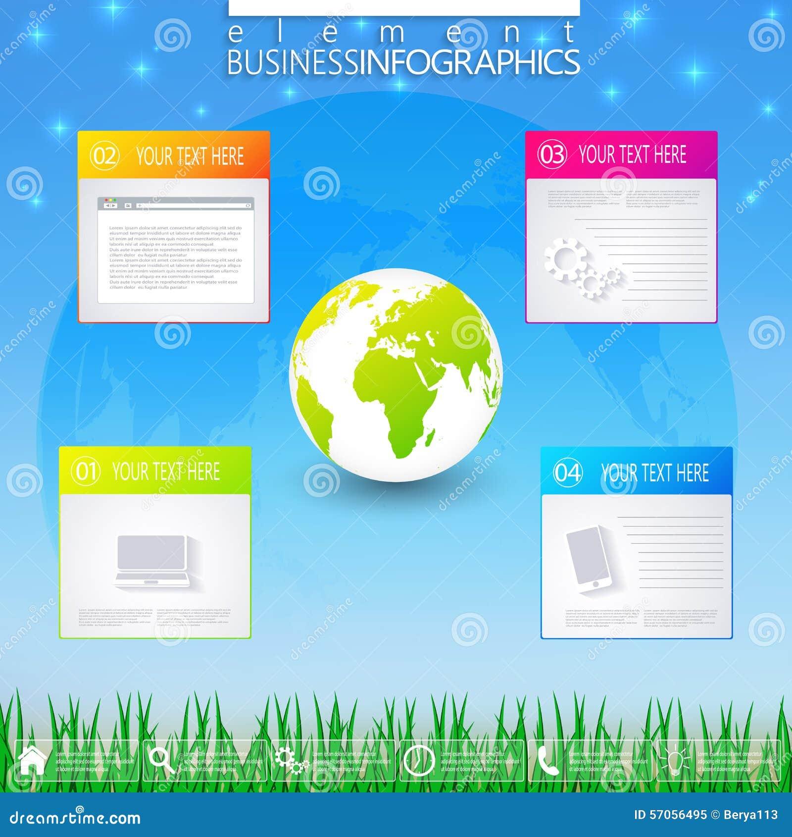 Modern infographic bedrijfsmalplaatje