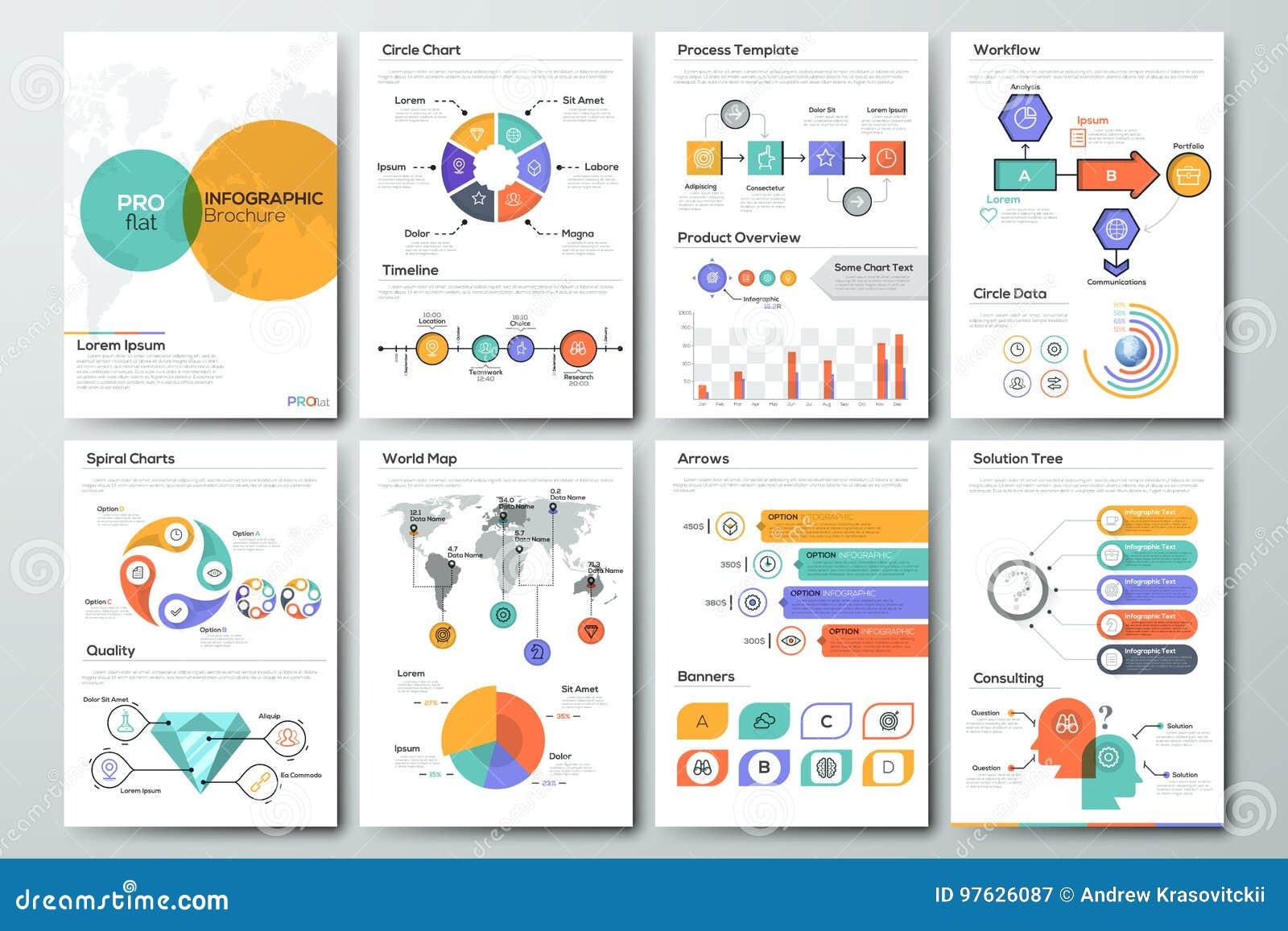 Modern Infographic Brochure Template Stock Vector Illustration Of