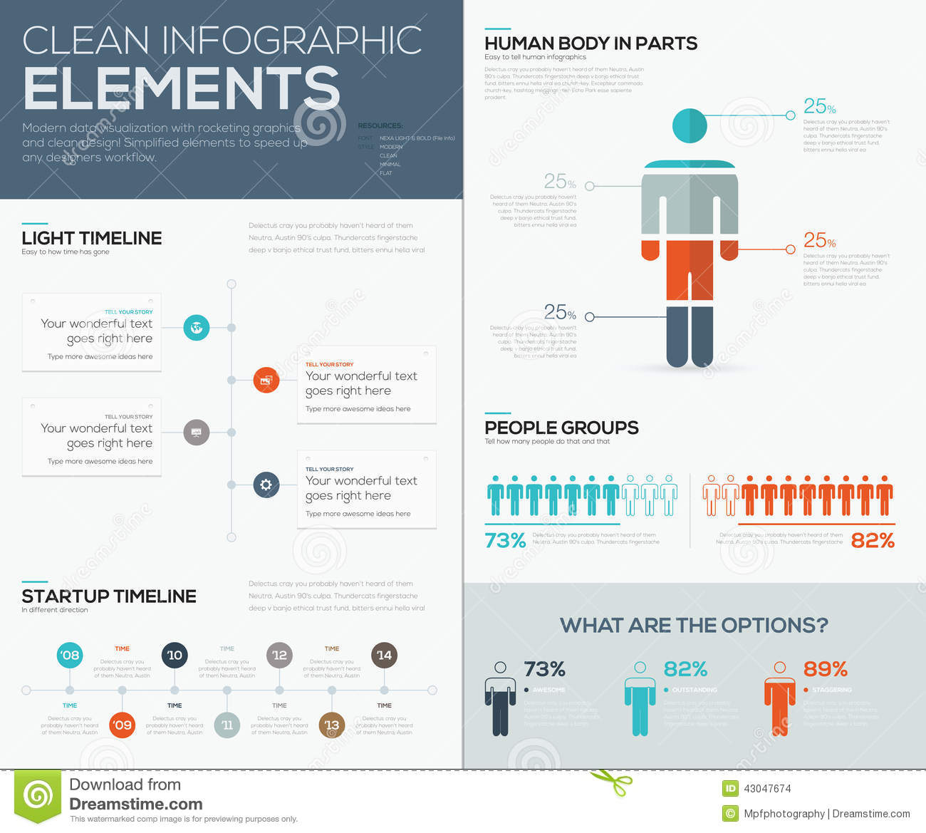 Modern Infographic Data Visualization With People And