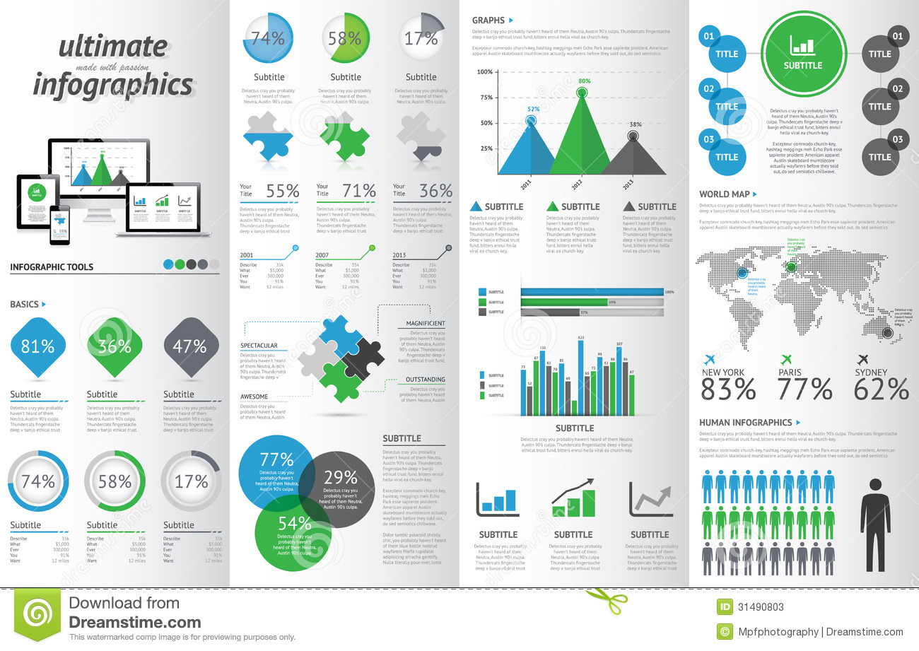Modern Infographic Set With Electronic Devices. Ve Stock ...