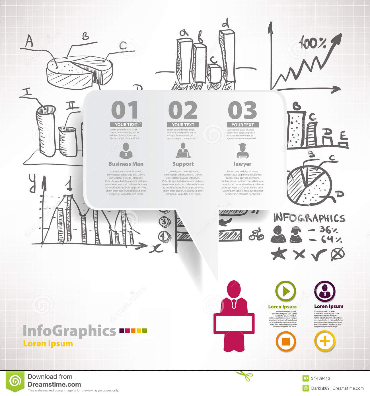 modern infographic template for business design with