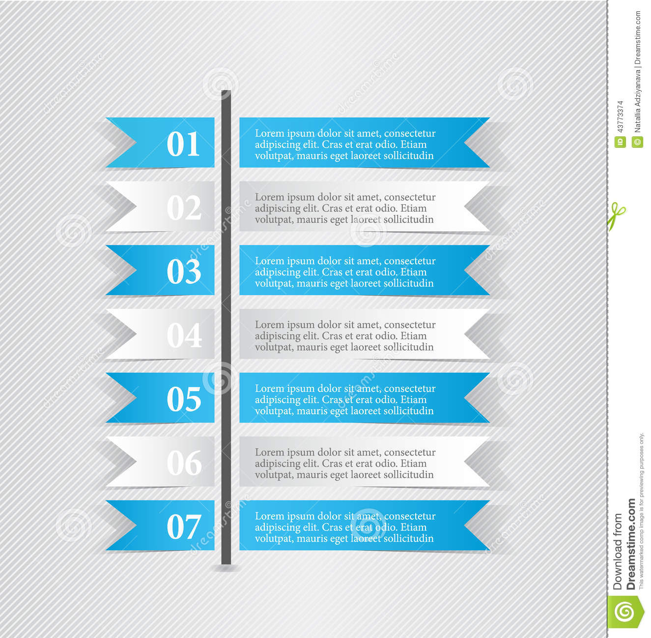 Modern Infographic White And Blue Design Template Sticker Notes ...