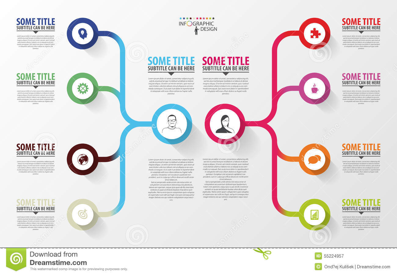 modern infographics  business plan design template  vector stock vector