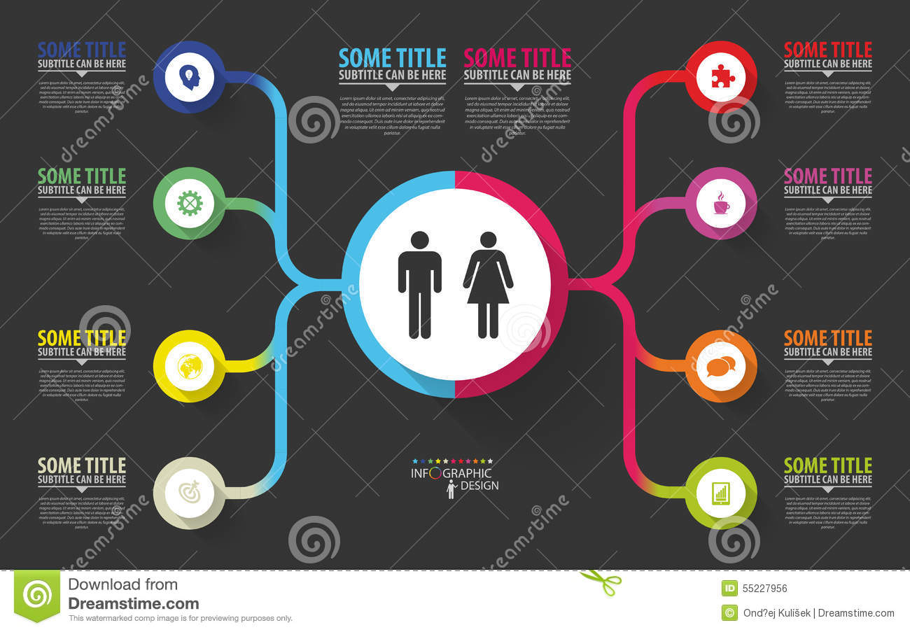 Modern Infographics Business Plan Design Template Vector Stock Vector Illustration Of