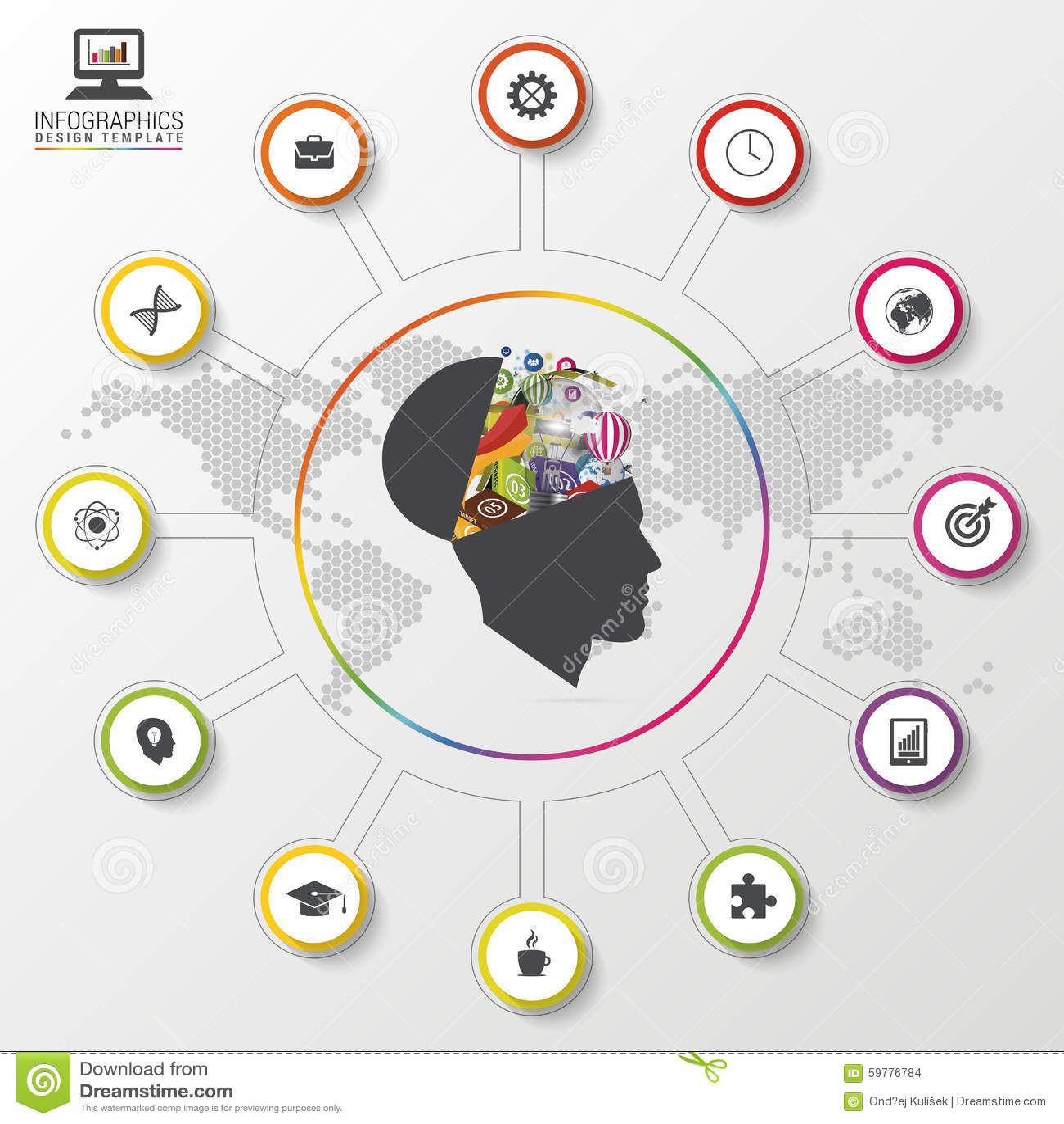 Modern Infographics Creative Mind Colorful Design