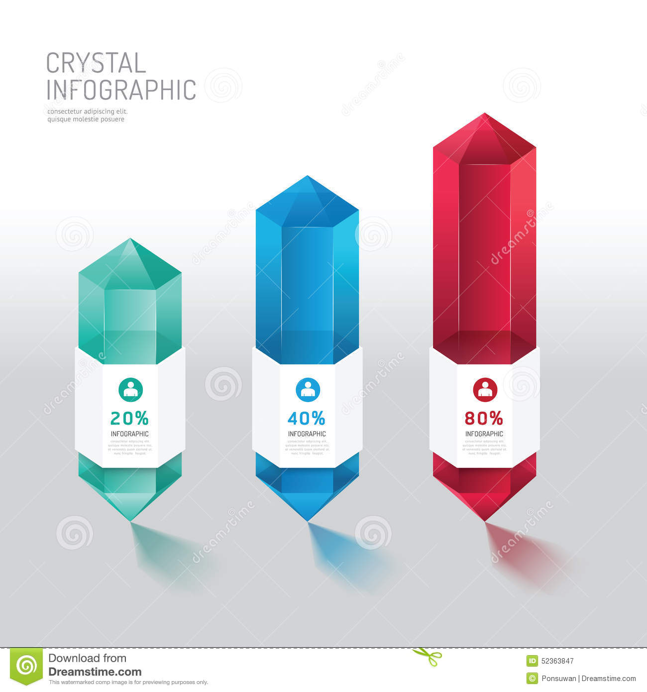 modern infographics design crystal options banner vector play button vector image play button vector png