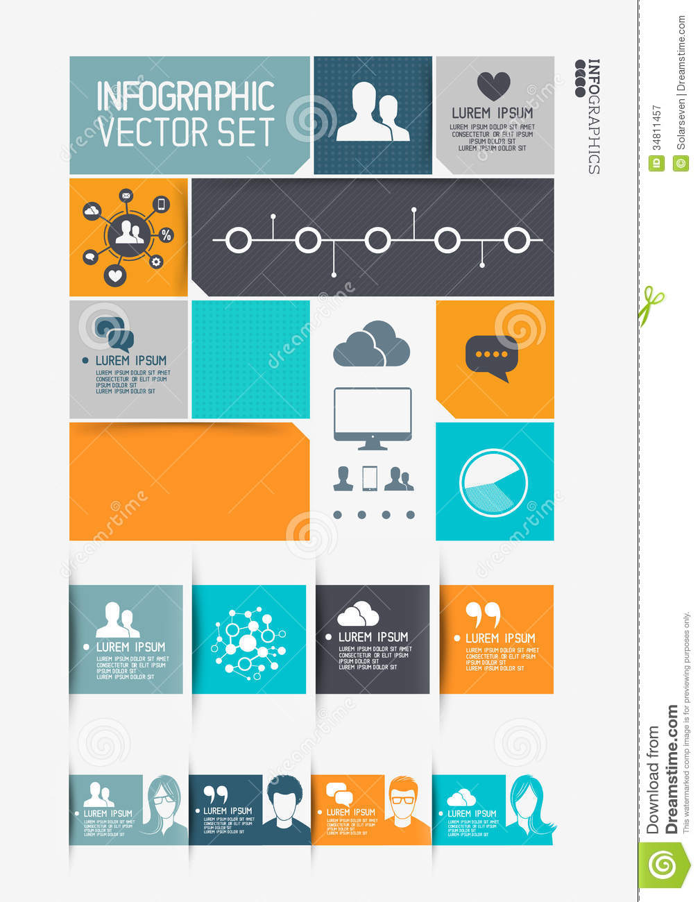 Modern Infographics Interface Royalty Free Stock