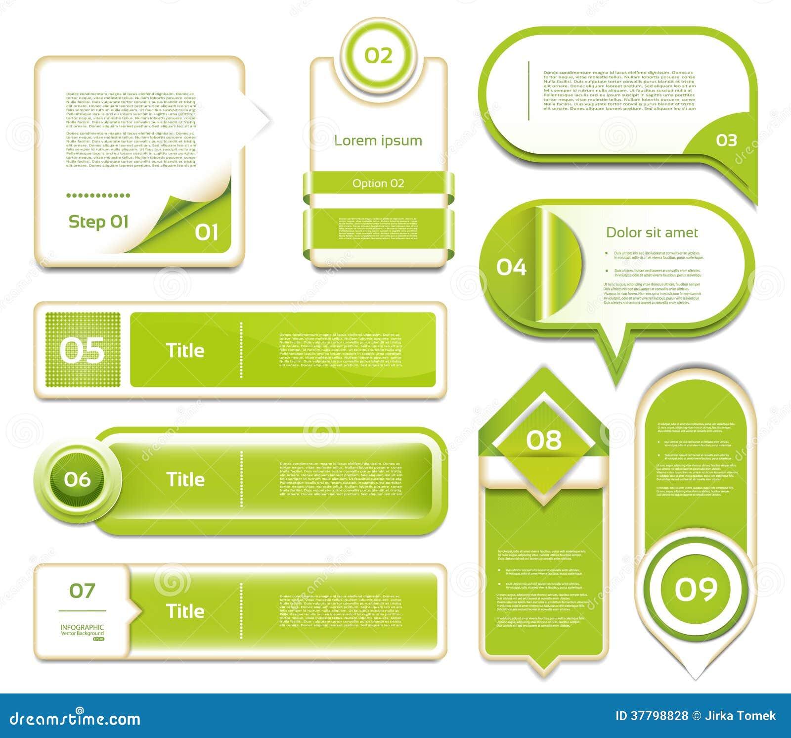 Modern infographics options banner. Vector illustr