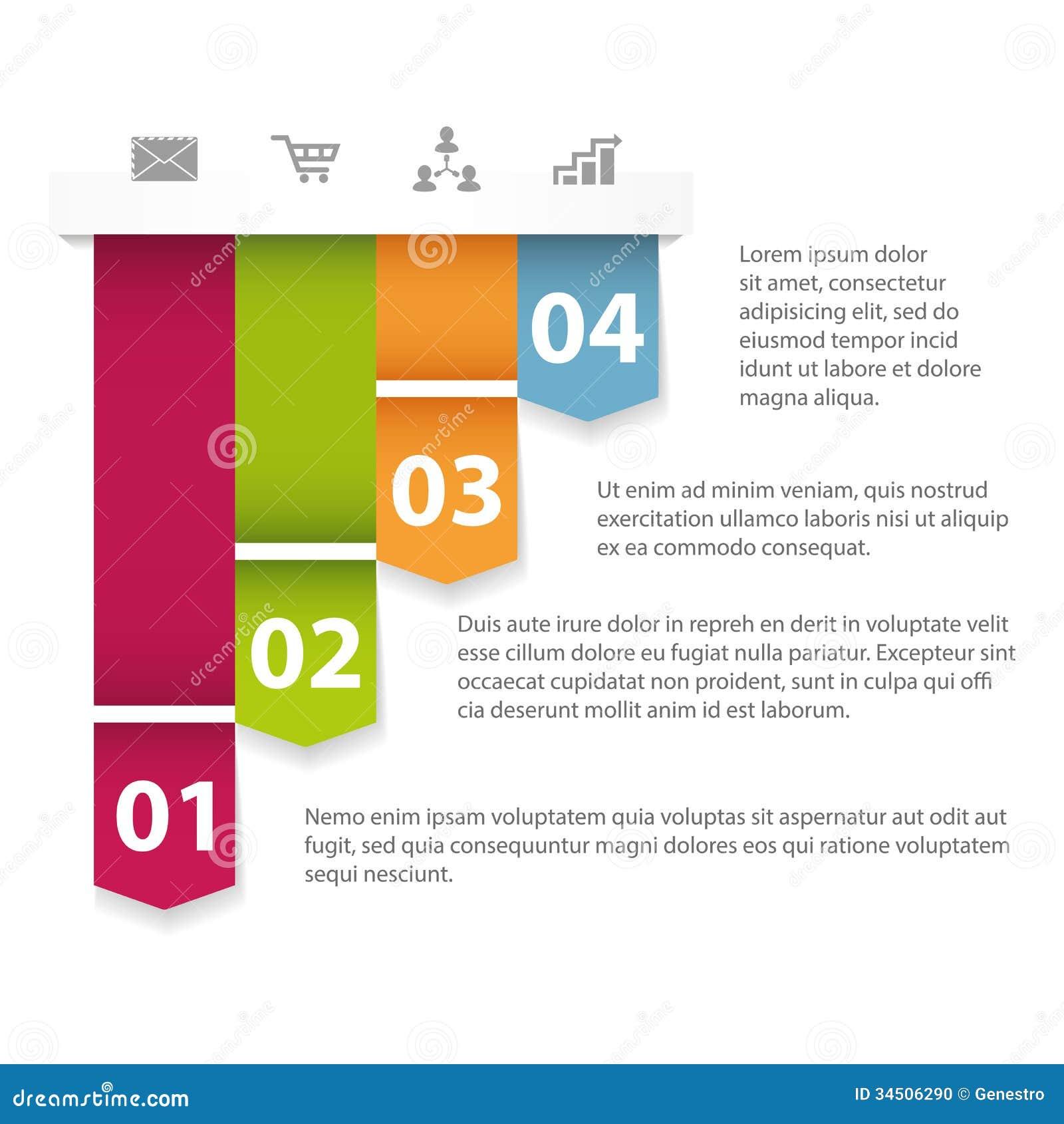 Modern Infographics Template Stock Photo Image 34506290