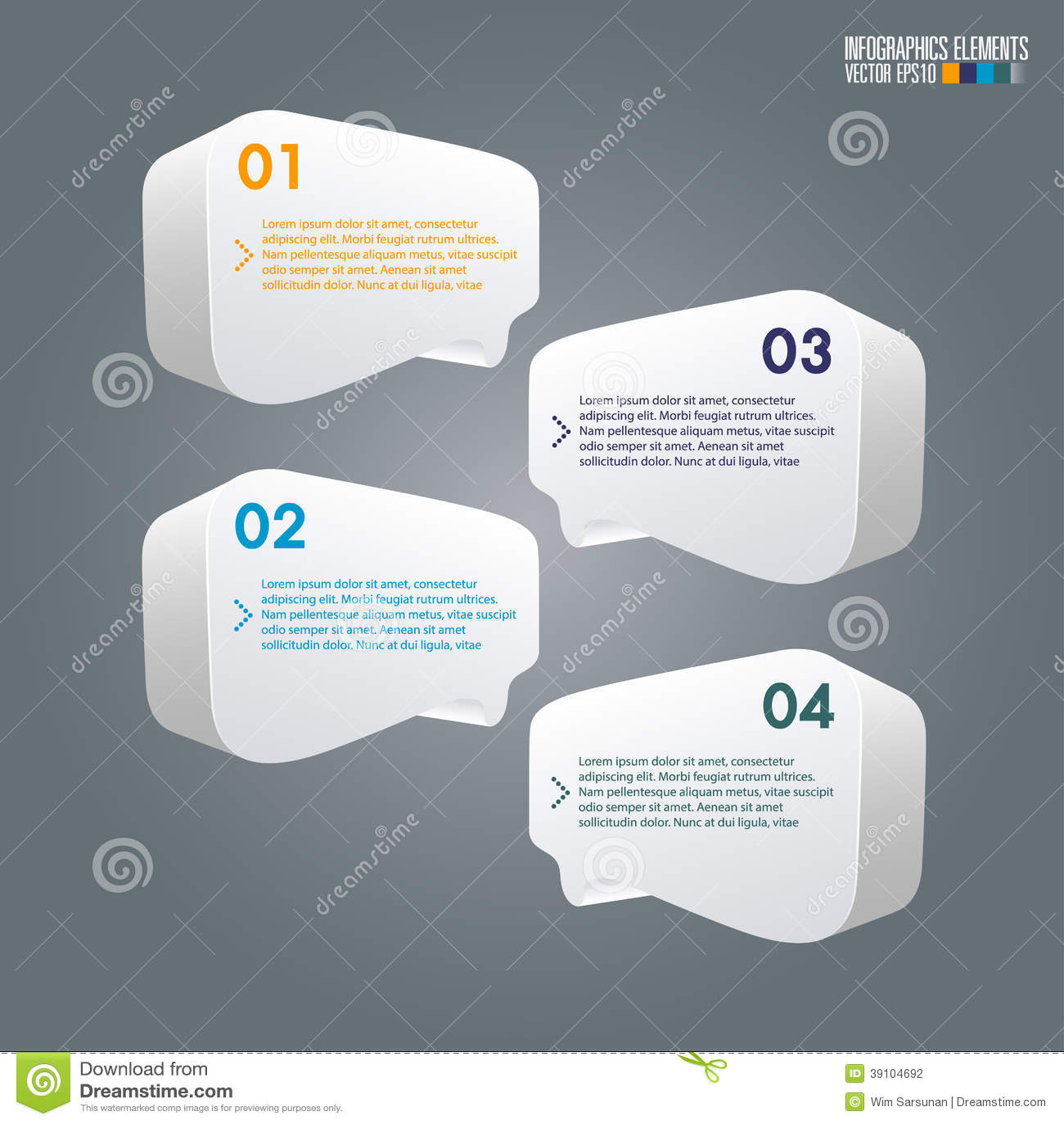 Modern infographicsmalplaatje