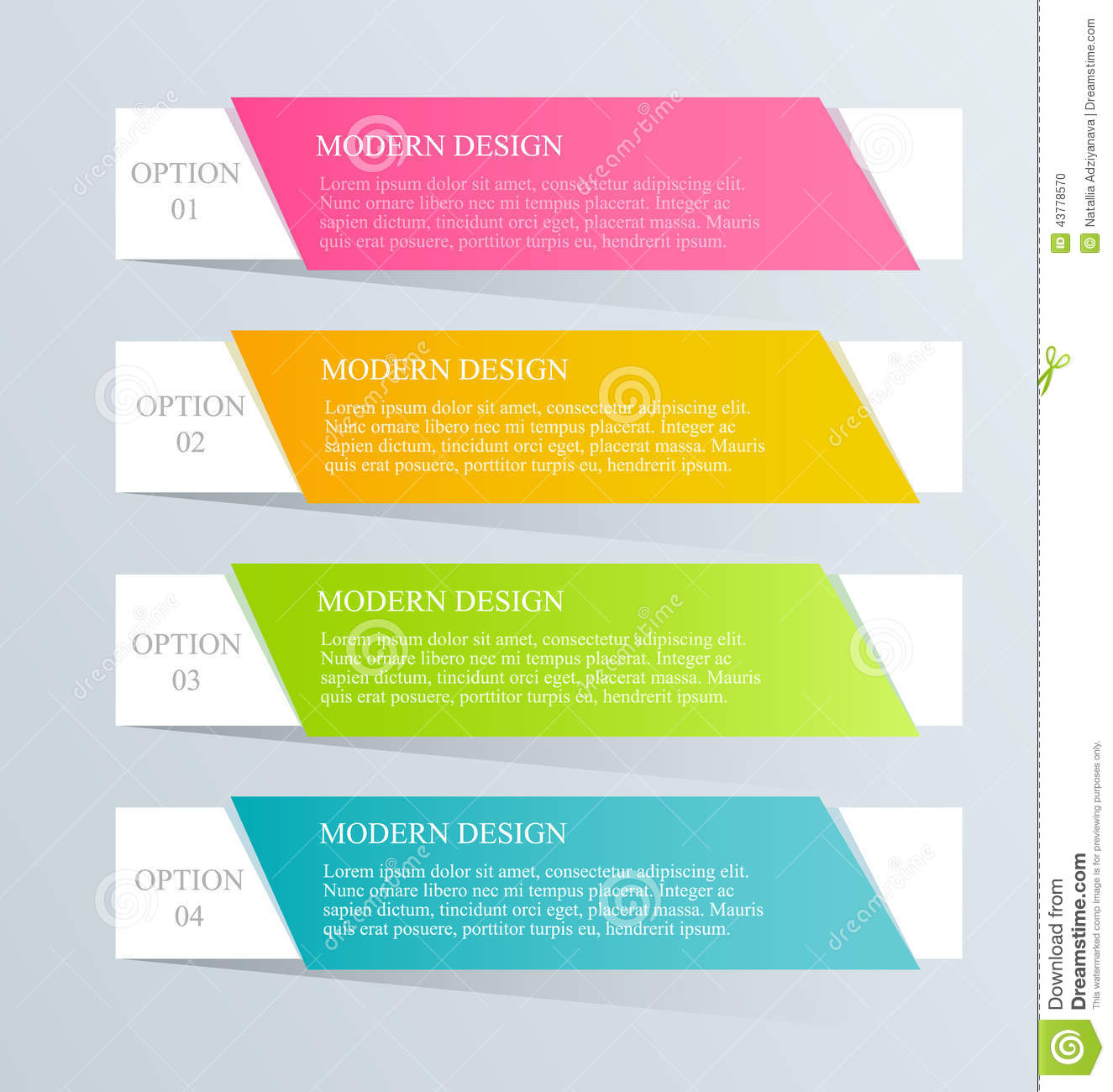 Custom Card Template template design : Modern Inforgraphic Template. Can Be Used For Banners ...