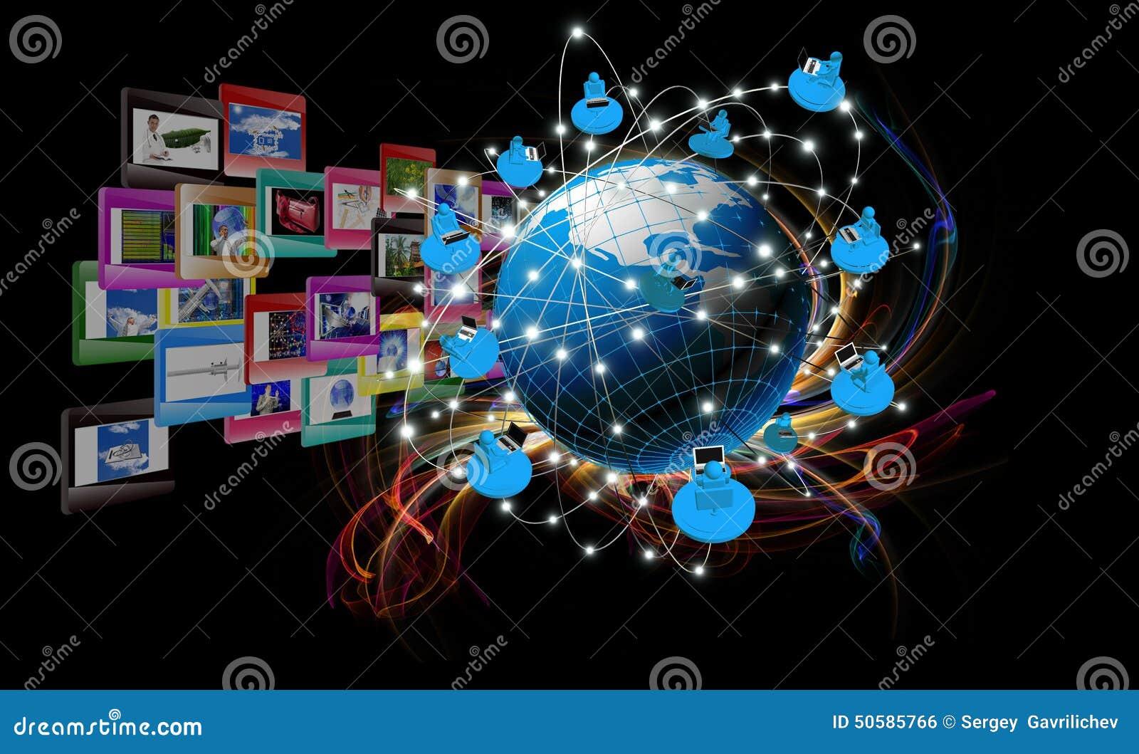 Super Modern Innovation Compiting Technology Stock Illustration #VG_25