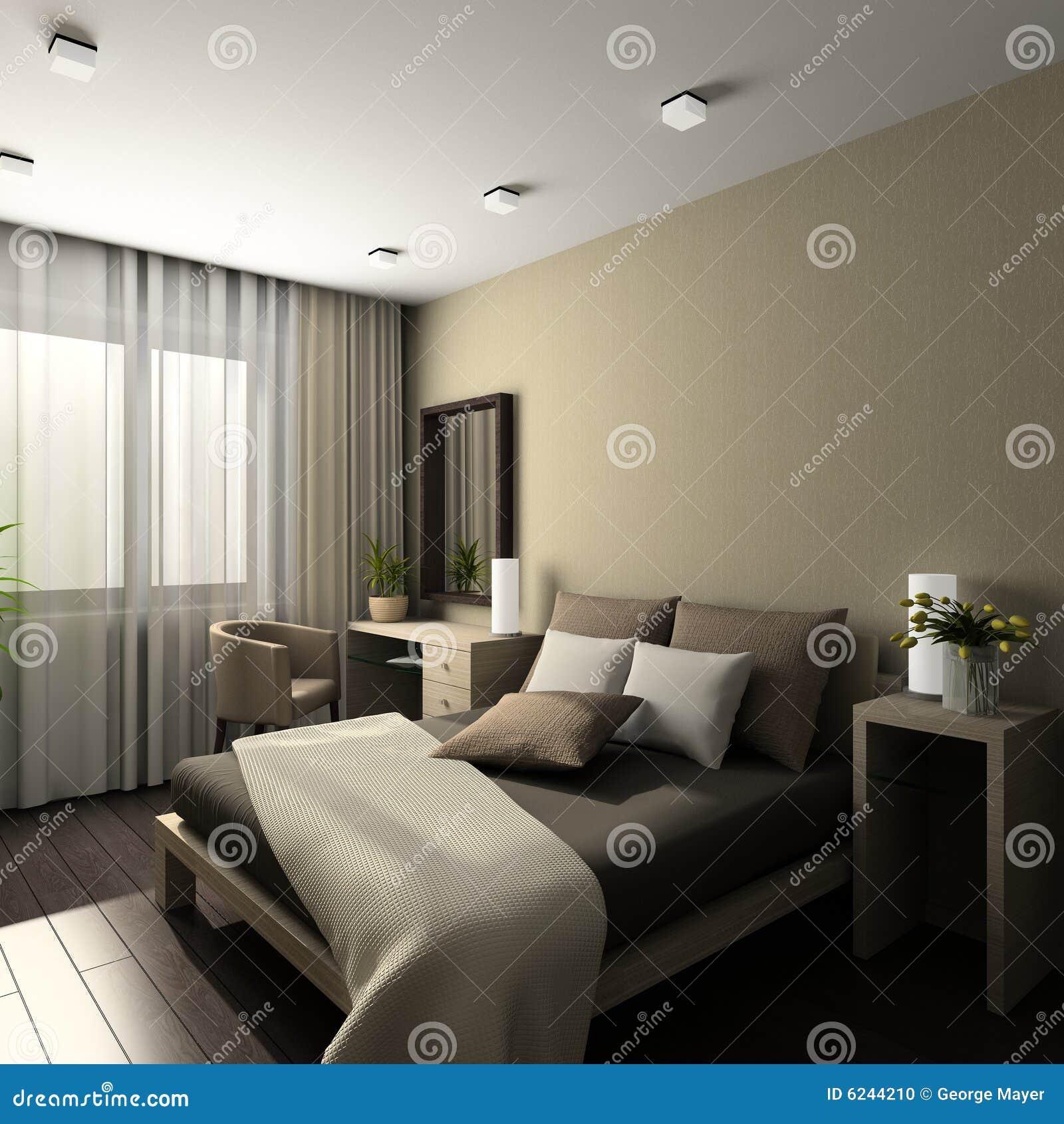 Modern Interior. 3D Render Stock Photo