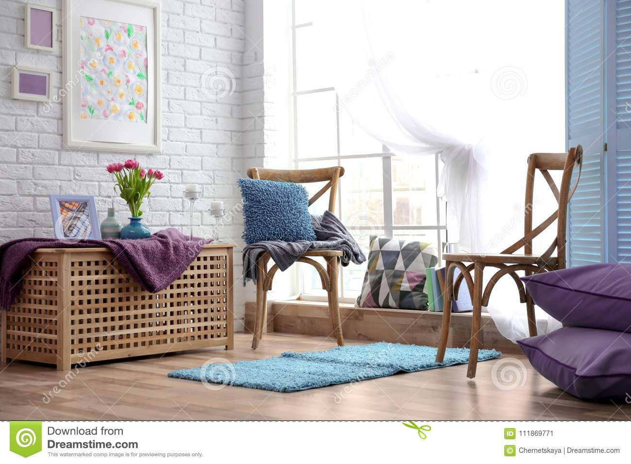 Surprising Modern Interior With Accent Stock Image Image Of Bright Download Free Architecture Designs Photstoregrimeyleaguecom