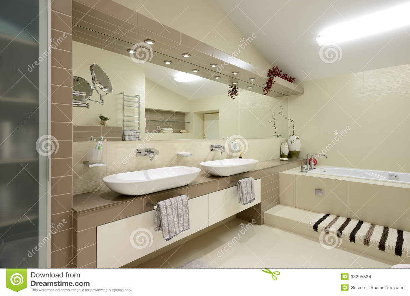 Modern interior.Bathroom