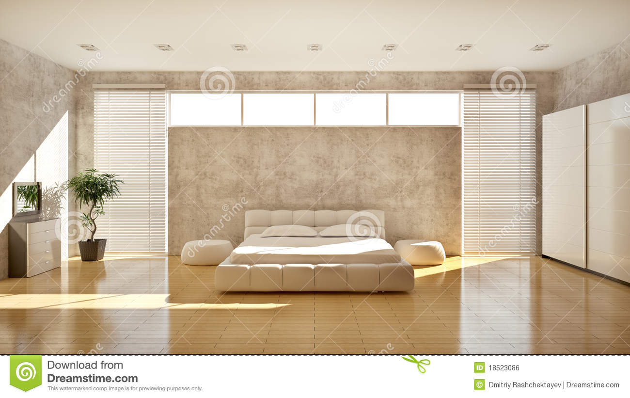 Modern interior of a bedroom royalty free stock image for Modern interior