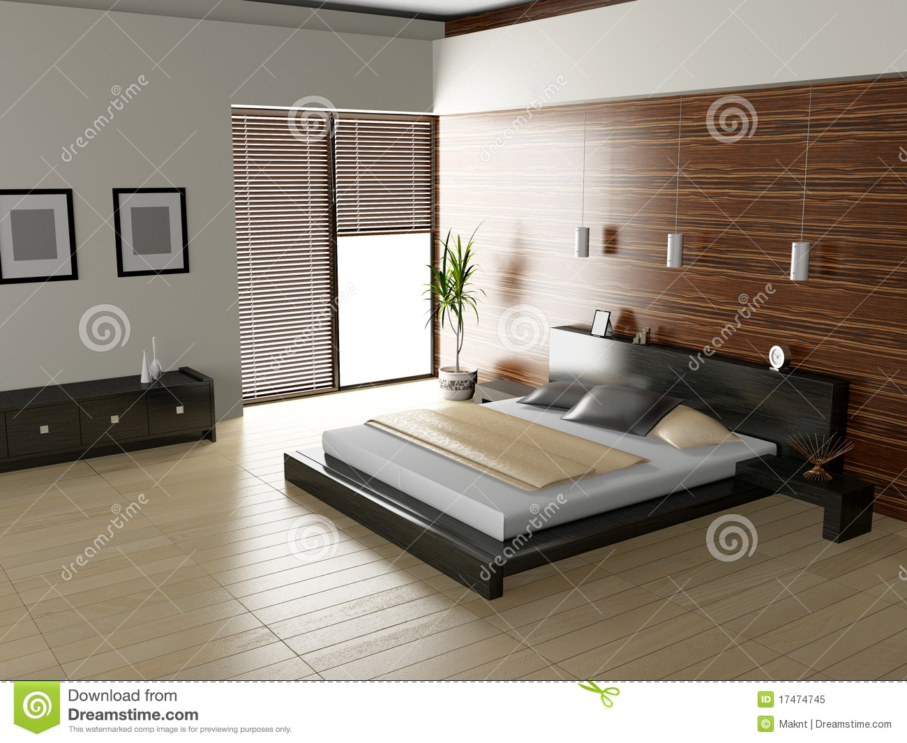 Exclusive Design Bedroom | 3d Interior Architecture Stock ...