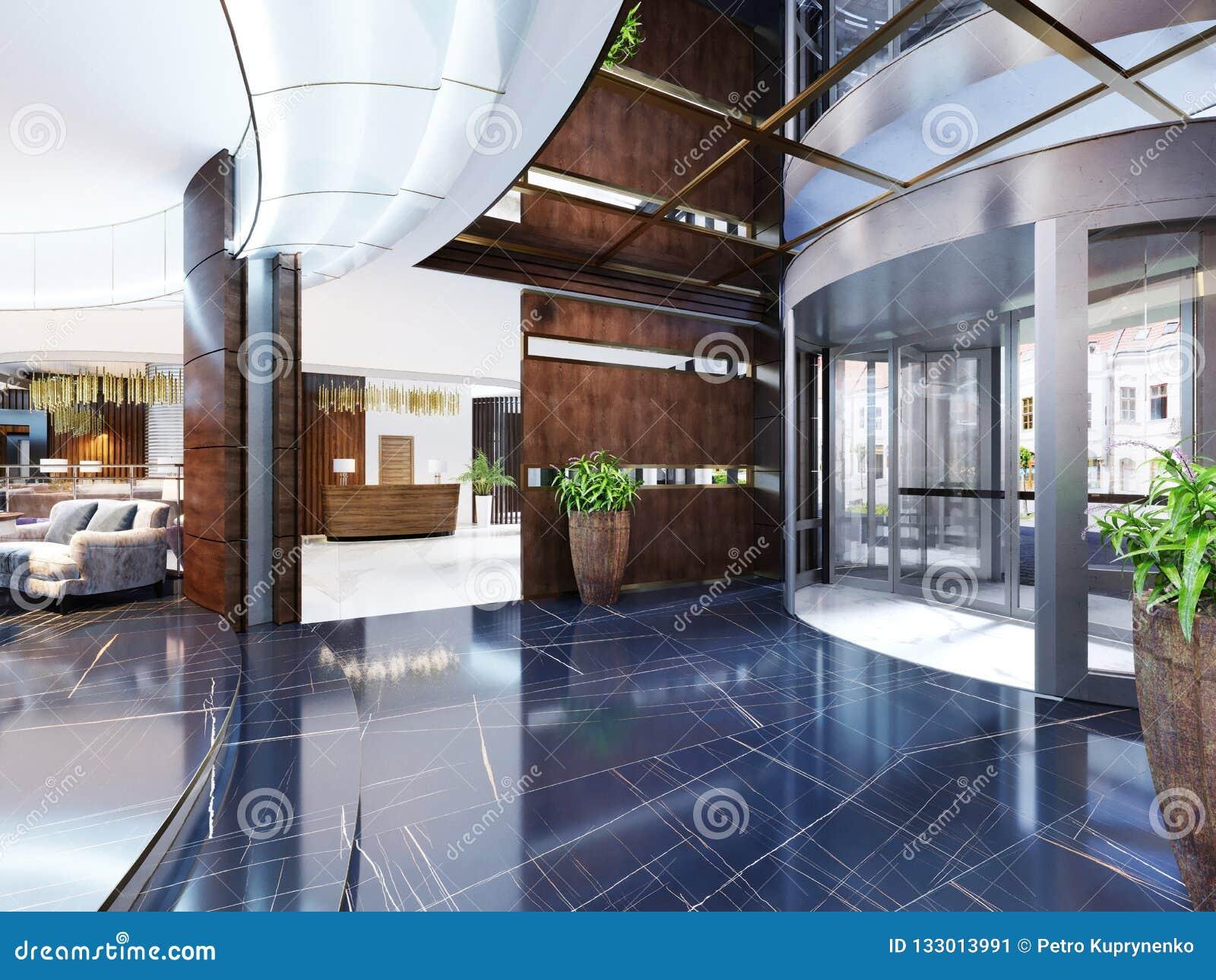 Modern Interior Of Cozy Bar Restaurant Contemporary Design In T Stock Illustration Illustration Of Ceiling Building 133013991