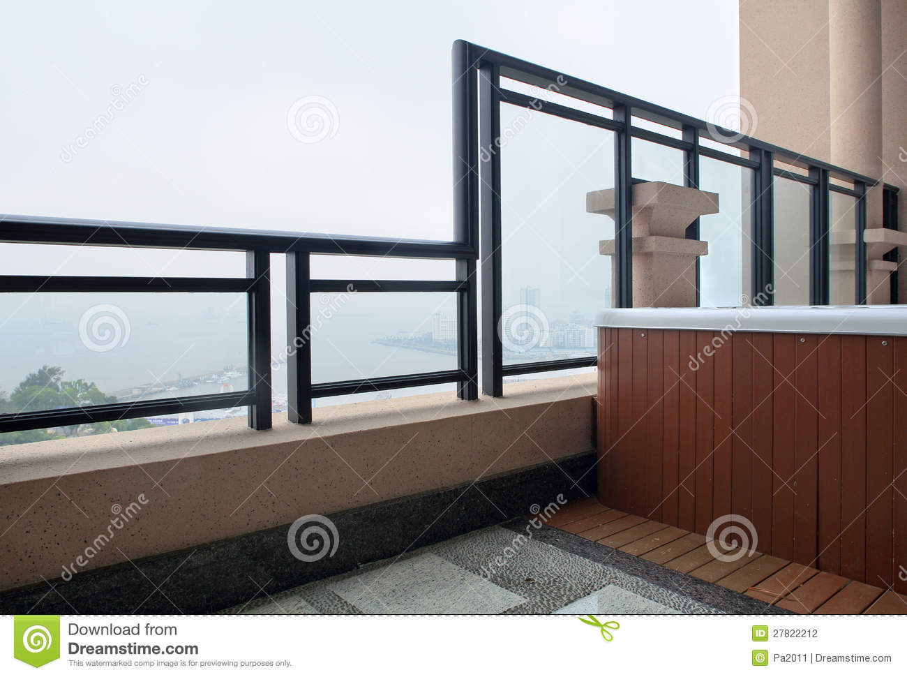 Modern interior design balcony stock photo image 27822212 for Balcony interior design