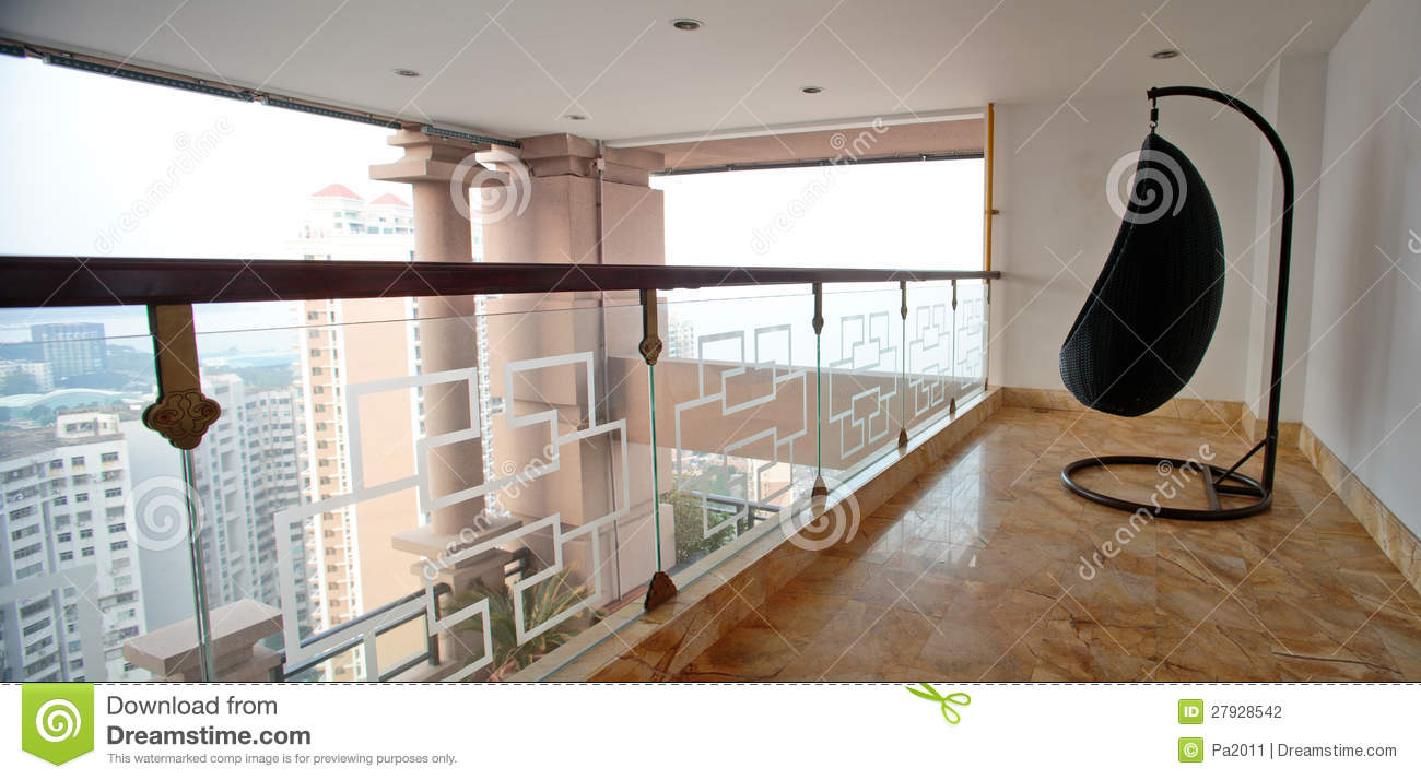 Modern interior design balcony stock photography image for Balcony interior design