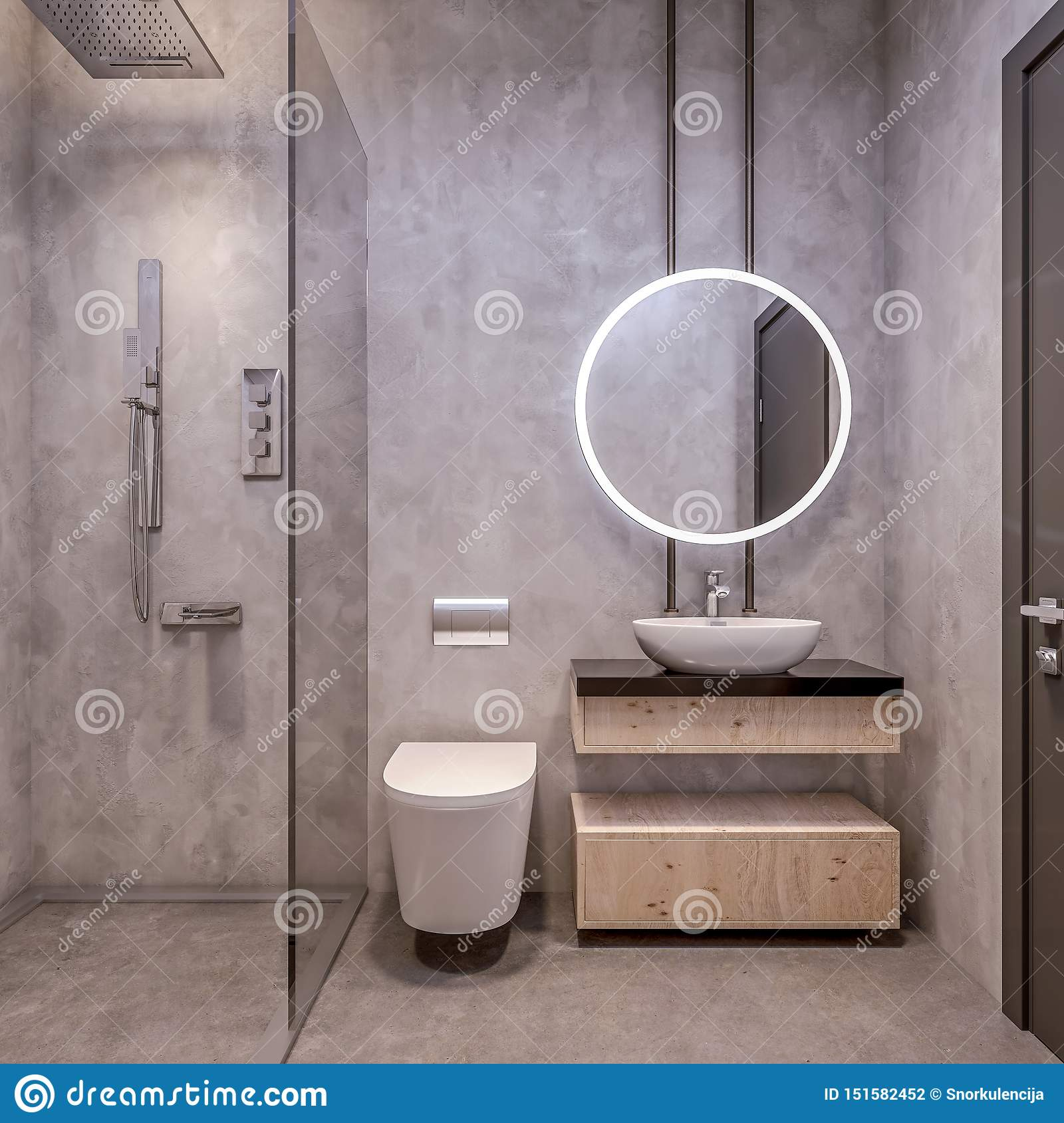 Modern Interior Design Of Bathroom Vanity All Walls Made Of Stone Slabs With Circle Mirrors Minimalist And Clean Stock Illustration Illustration Of Hotel Granite 151582452,Home Decorators Collectors