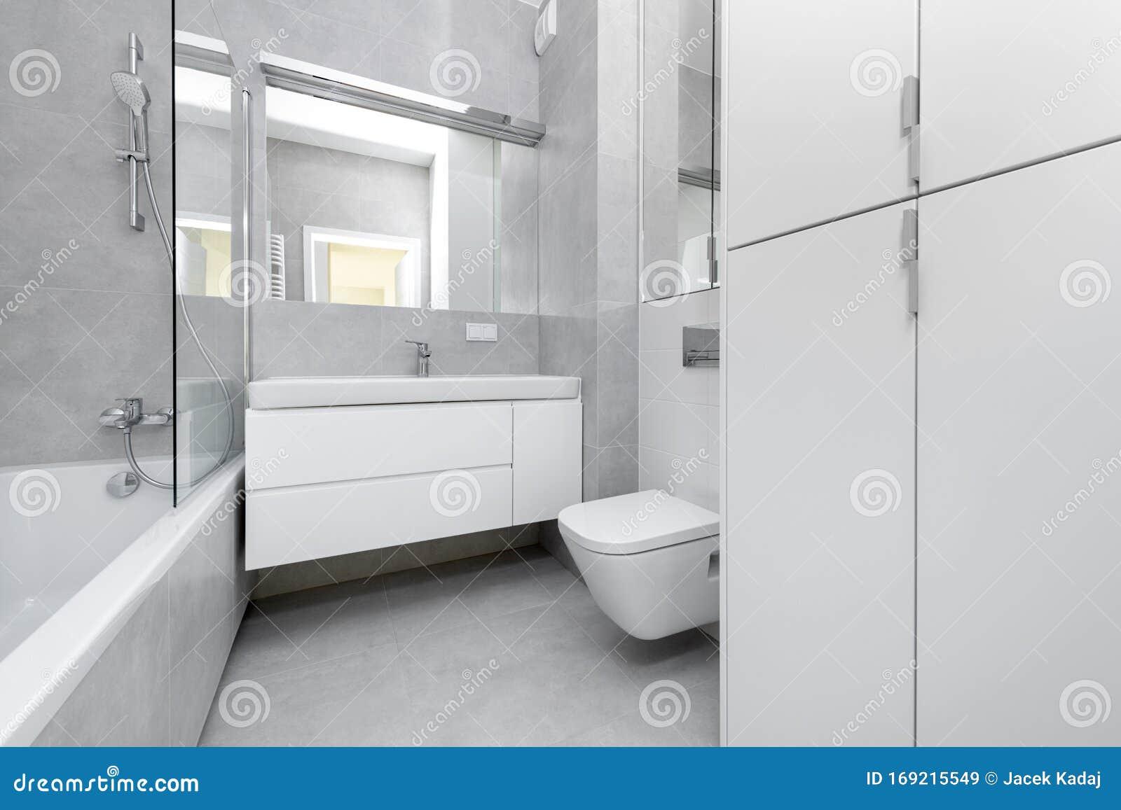 Modern Interior Design Bathroom Stock Image Image Of Elegance Home 169215549
